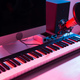 Synthesizer keyboard digital recording, home music record studio concept. Leisure and hobby concept. - PhotoDune Item for Sale
