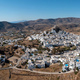 Ios island, Greece, Cyclades. Panoramic aerial drone view of Chora town - PhotoDune Item for Sale