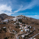 Serifos island, Greece, Cyclades. Panoramic aerial drone view of Chora town - PhotoDune Item for Sale