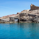 Old wooden door for boats, Firopotamos, Milos island, Cyclades, Greece - PhotoDune Item for Sale