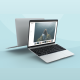 Minimalistic And Clean Website Laptop Mockup - VideoHive Item for Sale