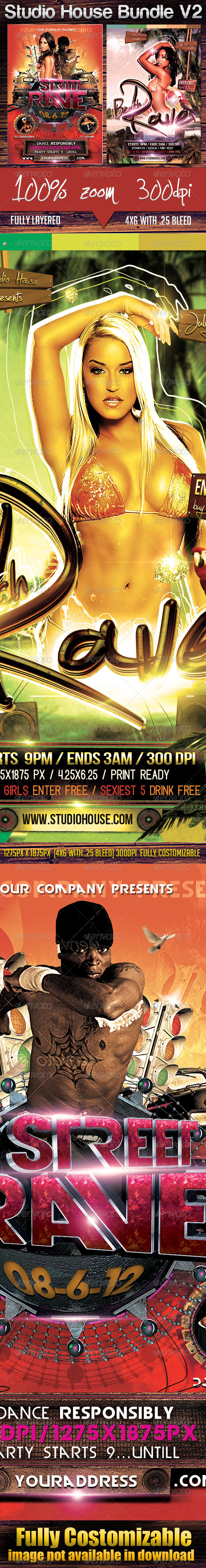 Studio House Bundle V2 - Clubs & Parties Events