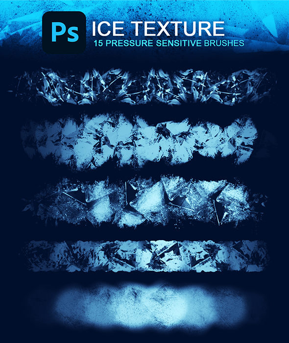 Ice Texture Photoshop Brush Set
