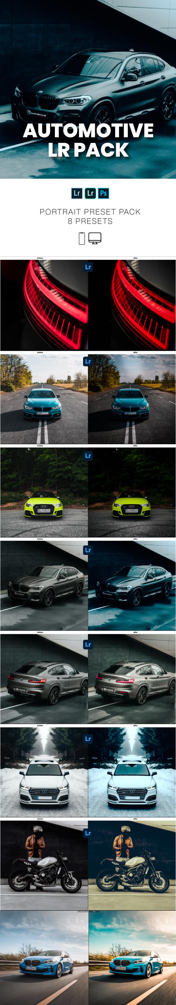 GraphicTweed Automotive Car Lightroom Preset Pack