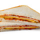 Two halves of a sandwich isolated on white - PhotoDune Item for Sale