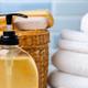 Liquid soap or body lotion set at hotel bathroom - PhotoDune Item for Sale