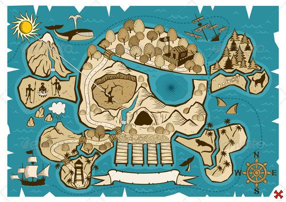 Treasure Map - Travel Conceptual