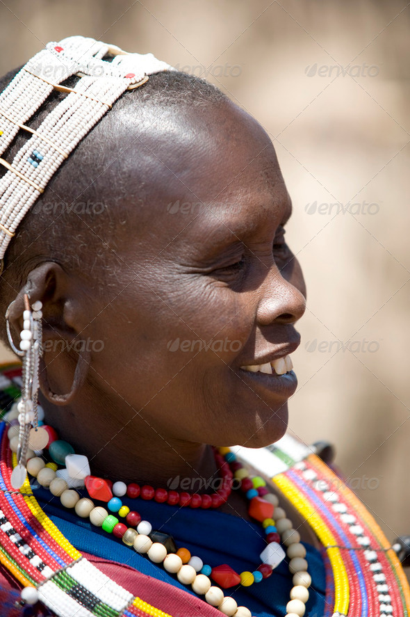 Portrait of masai - Stock Photo - Images