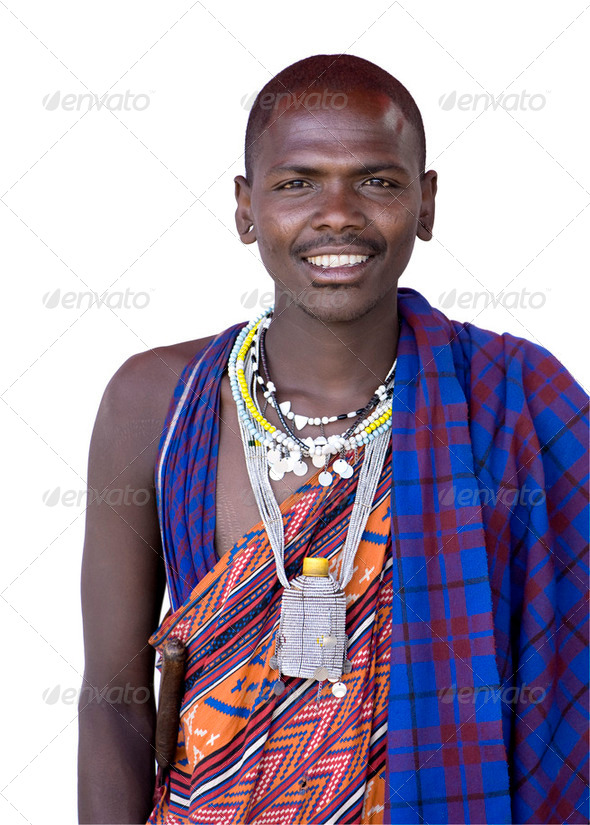 Portrait of a masai - Stock Photo - Images