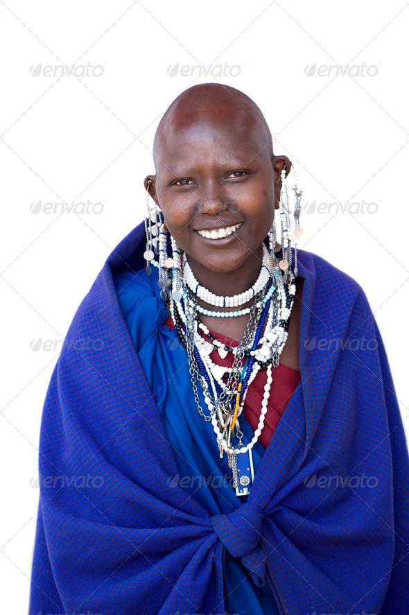 Portrait of a masai - Stock Photo - Images