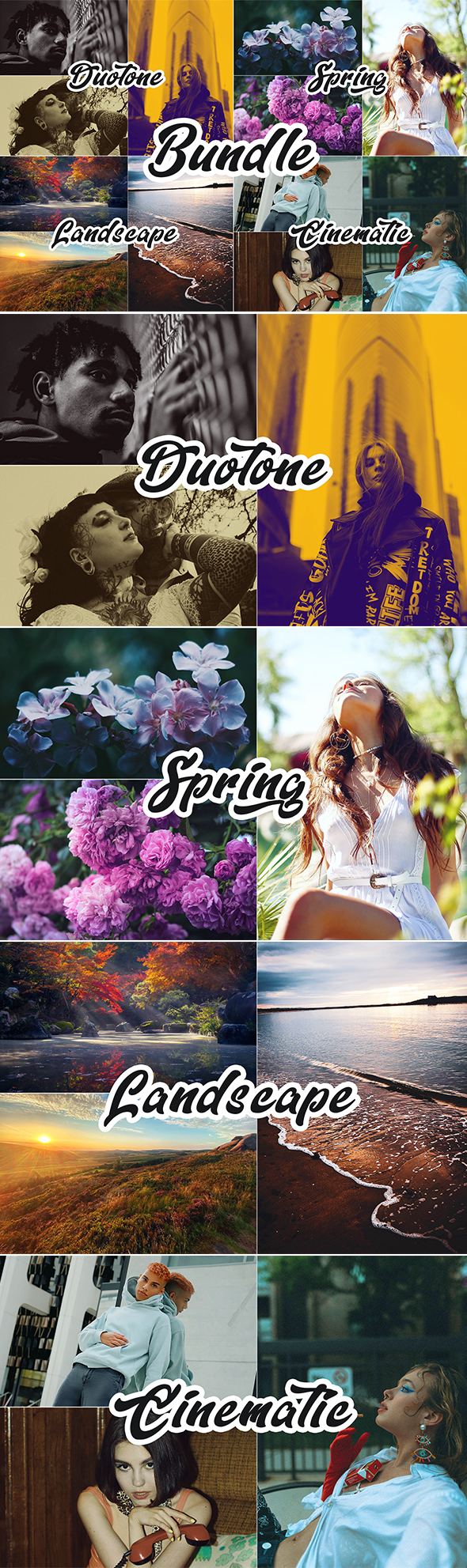 40 Photoshop Actions - Bundle 4 IN 1