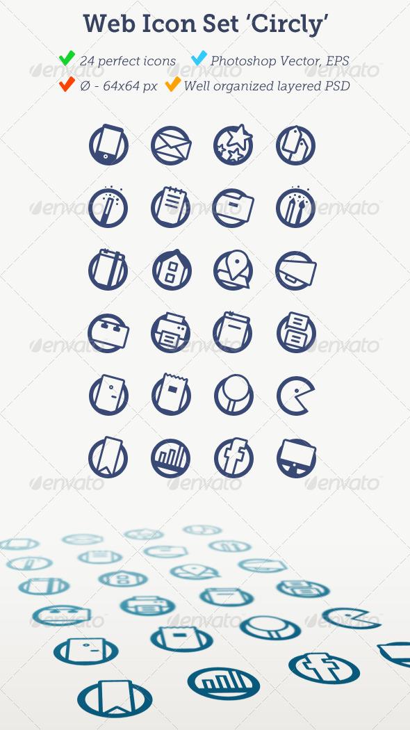 Web Icon Set 'Circly' - Web Icons
