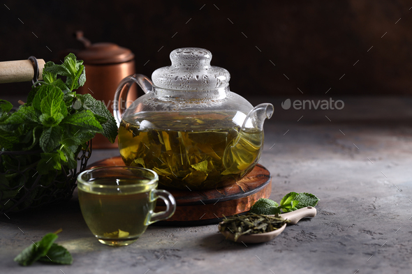 Green Mint Tea - Stock Photo - Images
