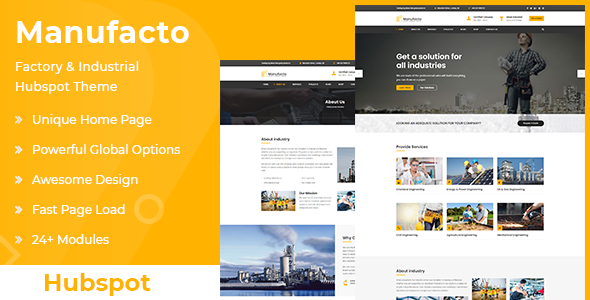 Manufacto | Factory & Industrial Hubspot Theme