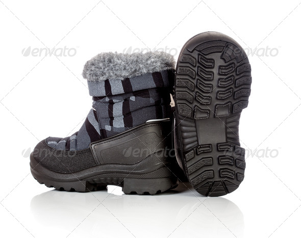winter baby shoe - Stock Photo - Images