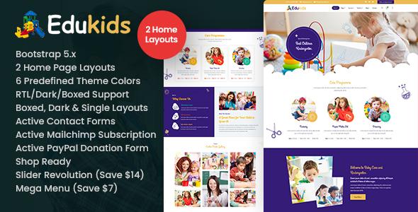 Edukids - Children Kidergarten HTML