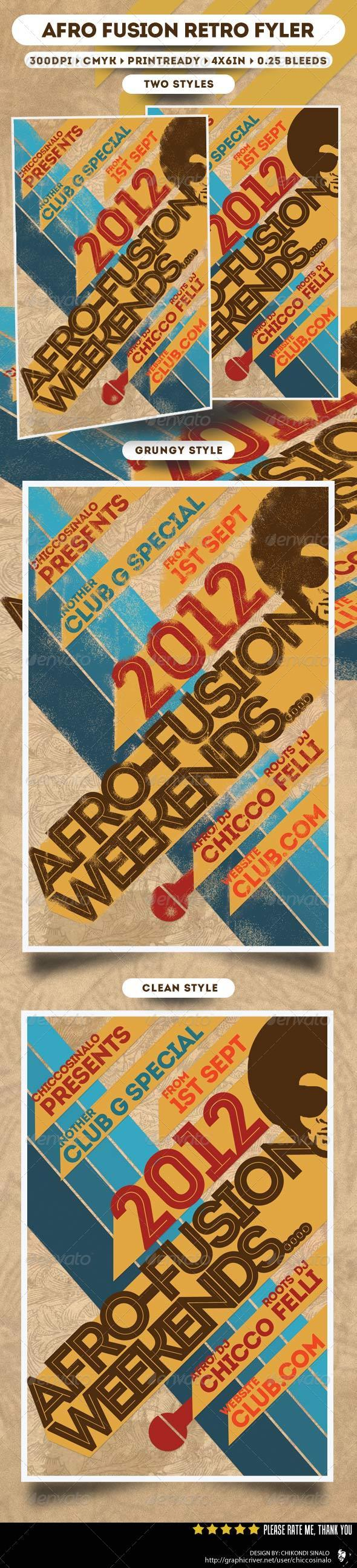 Afro Fusion Flyer Template - Clubs & Parties Events