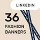 Fashion LinkedIn Banner Templates