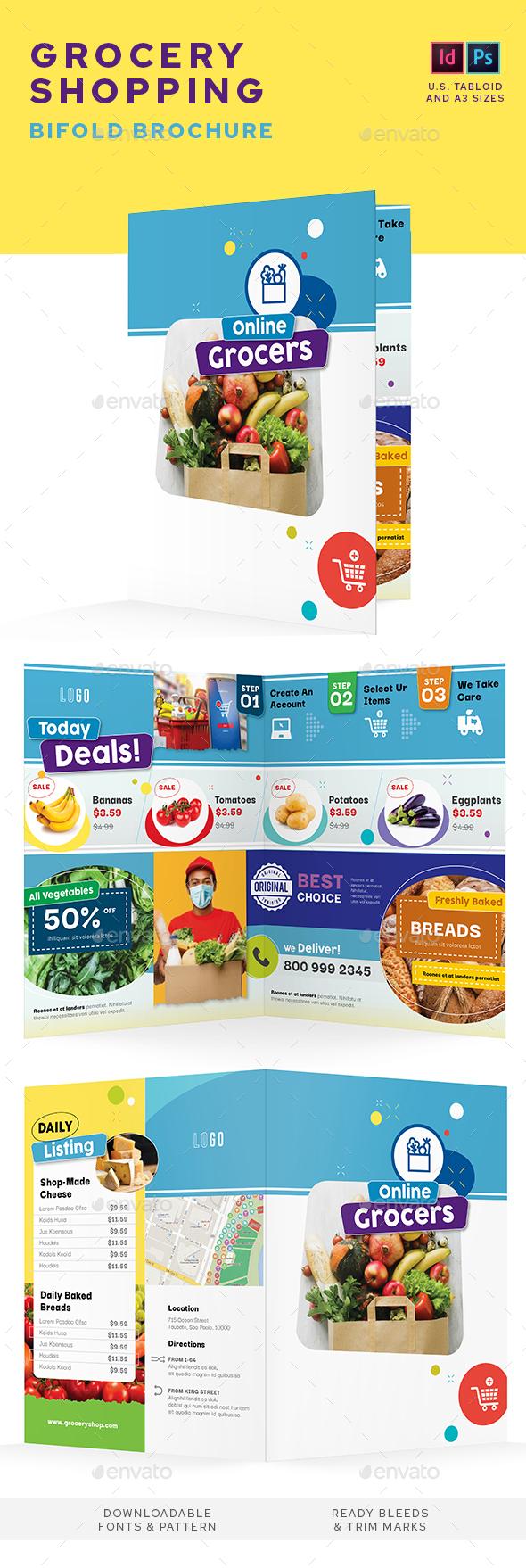 Grocery Shop Bifold Brochure