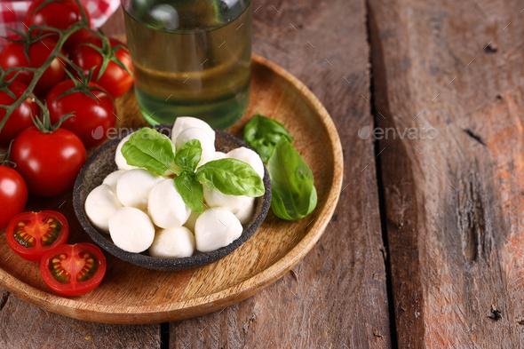 Baby Mozzarella Cheese - Stock Photo - Images