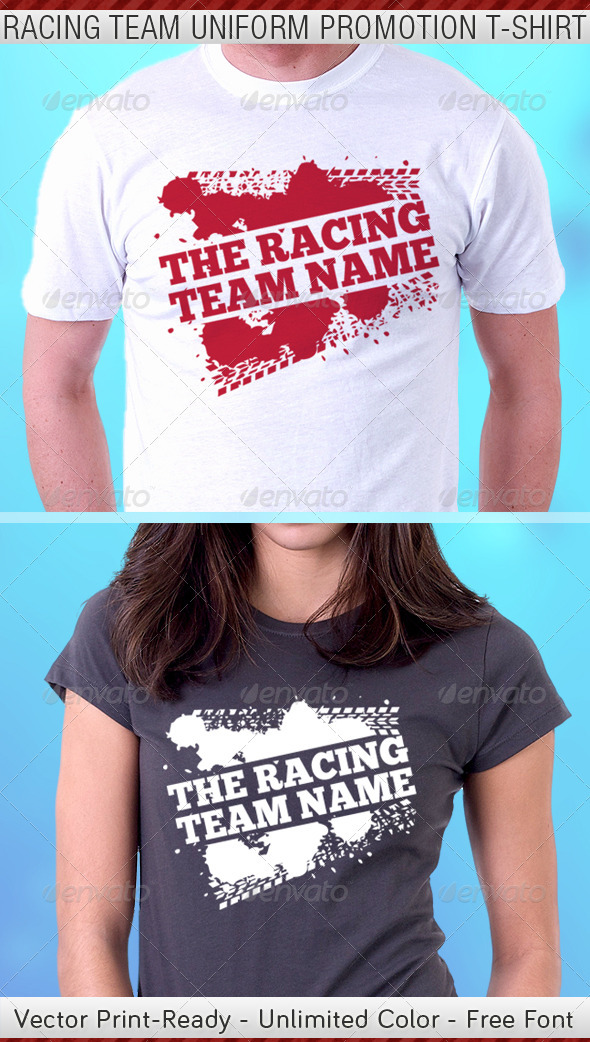 Racing Team Promotion T-Shirt Template - Sports & Teams T-Shirts