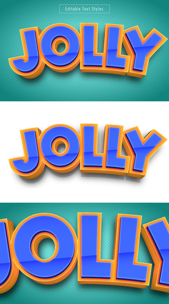 3D Cartoon Text Effect for Illustrator
