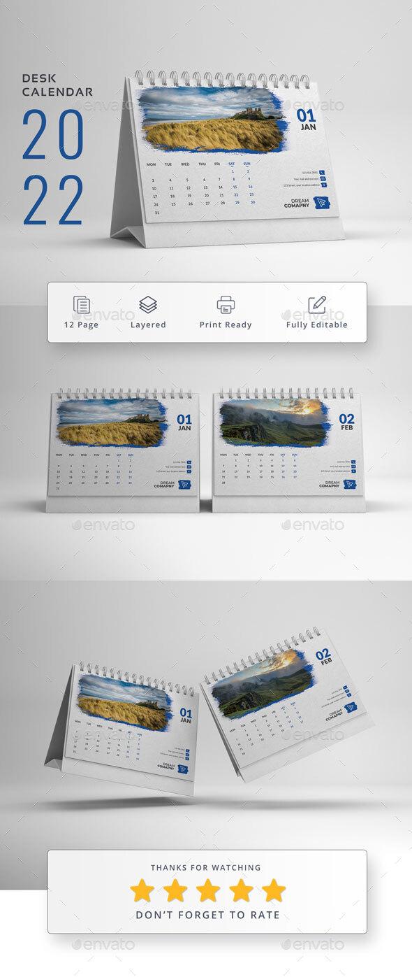 Desk Calendar 2022
