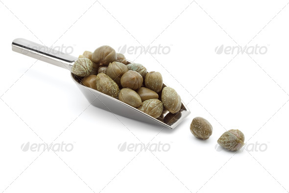 Spoon with capers - Stock Photo - Images
