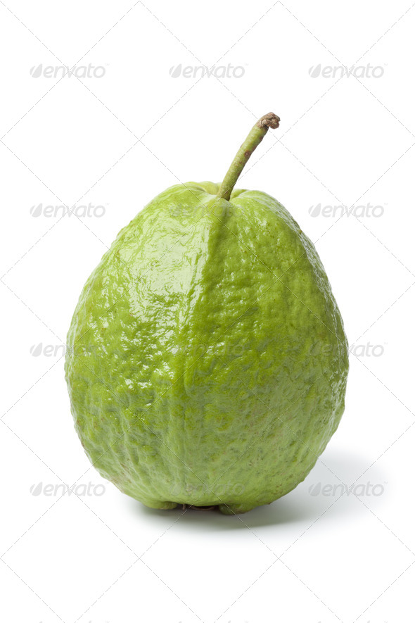 Whole sinfgle fresh guava - Stock Photo - Images