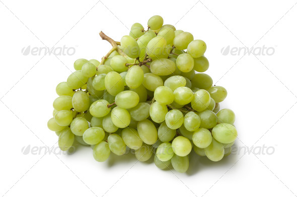 Bunch of green grapes - Stock Photo - Images