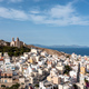 Syros island, Greece, aerial drone view. Ermoupolis and Ano Siros town cityscape - PhotoDune Item for Sale