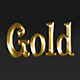3D Gold Text Effect PSD