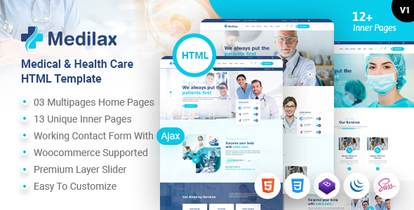 Medilax - Medical and Health Care HTML Template