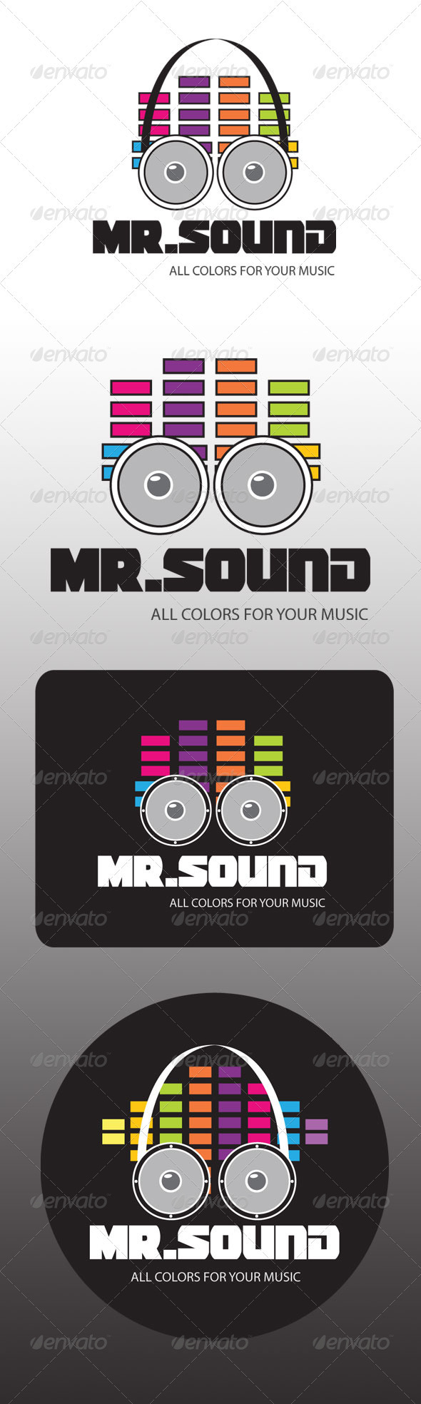 Mr. Sound  - Objects Logo Templates