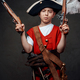 Small boy wearing pirate hat and costume with guns - PhotoDune Item for Sale