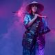 Woman samurai with bamboo hat and steel katana - PhotoDune Item for Sale