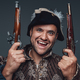 Portrait of crazy pirate with boarding pistols - PhotoDune Item for Sale