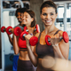 Picture of cheerful fitness team exercise together in gym - PhotoDune Item for Sale