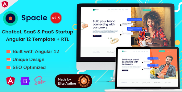 Fabulous Angular 12 Chatbot & SaaS Startups - Spacle