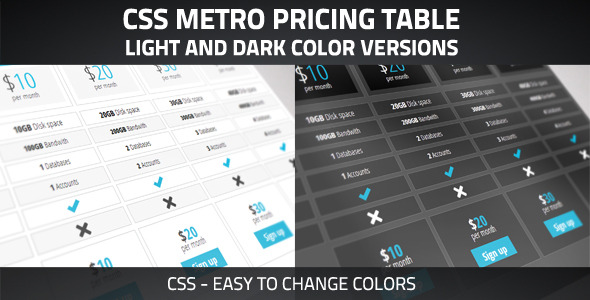 Clean Pricing Table - CodeCanyon Item for Sale