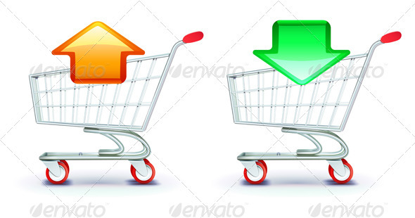 Shopping carts  - Objects Vectors