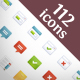 112 premium icons - GraphicRiver Item for Sale