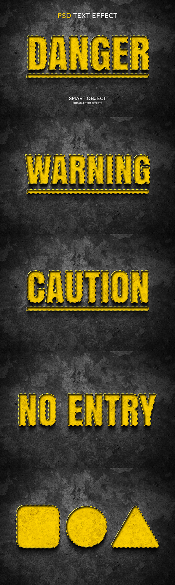 Danger Text Effect Style