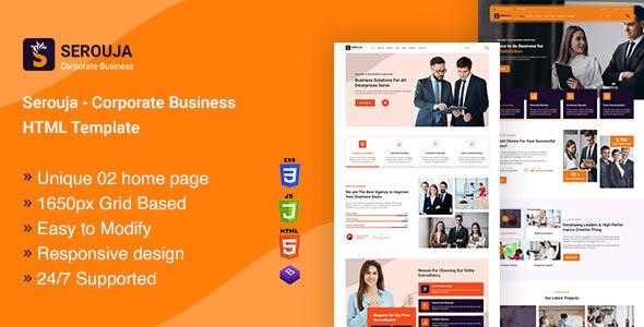 SEROUJA - Corporate Business HTML Template.