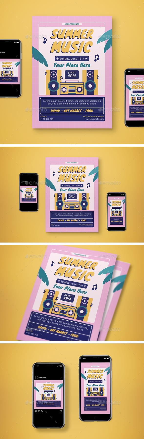 Summer Music Flyer Set