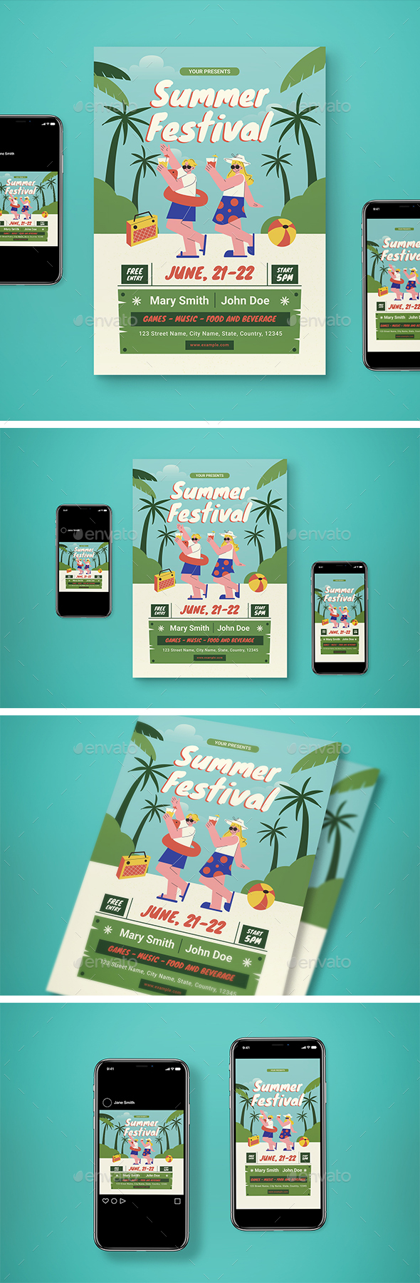 Summer Festival Flyer Set