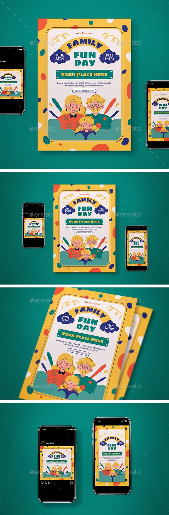 Family Fun Day Flyer Set
