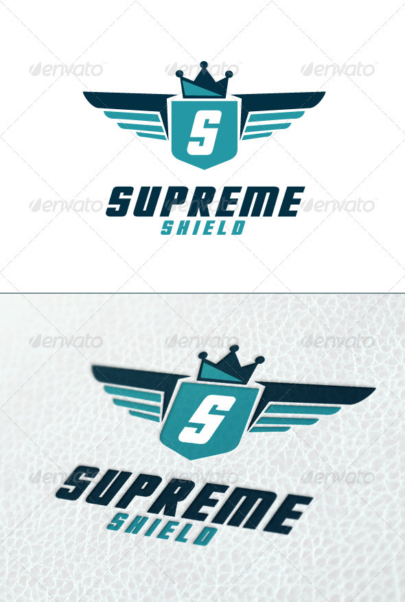 Supreme Shield Logo Template - Crests Logo Templates