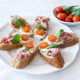 Italian style bruschettas close up - PhotoDune Item for Sale