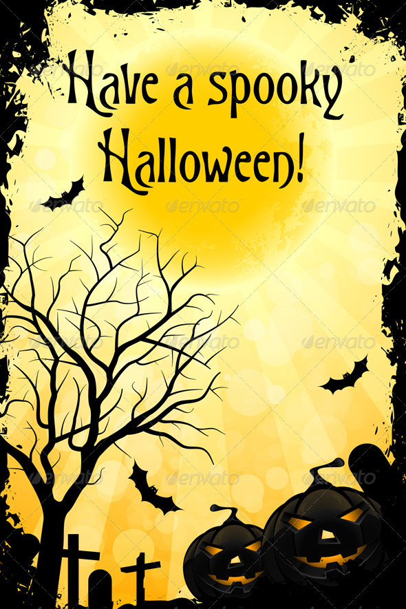 Grungy Halloween Card - Halloween Seasons/Holidays